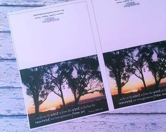 Printable Greeting Cards, Printable Bible Verse Cards, Christian Father's Day Card, Scripture Print, Psalm 103:11-12, Australian Bush Art