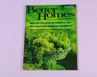 60's Better Homes and Garden Magazine February 1969 Vintage Art Collectible Memorabilia Retro Home Living