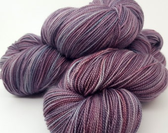 Destined for Paris, Grey, Pink, Lavender, Blue, ColorPurl Ritzy XL, Merino Cashmere Nylon, MCN, Hand Dyed Sock Weight Yarn, 600 yrds