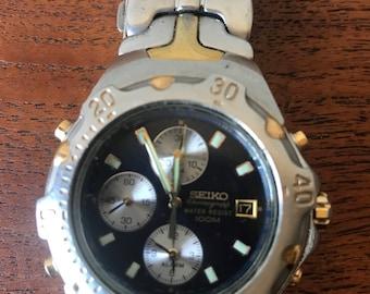 Seiko mens wrist watch