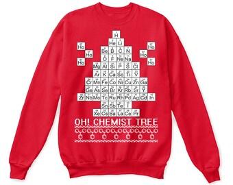 Chemistry shirt, chemist tree shirt, chemistry christmas shirt, chemistry tshirt, chemistry sweatshirt, chemistry sweater, christmas shirt