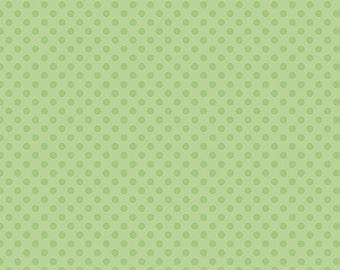 Tone on Tone Green Dots - Fat Quarter Cut - Small Dots - Riley Blake Designs - Cotton Fabric - Green Dots