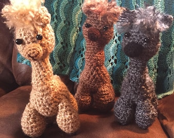 Crocheted Amigurumi Alpacas
