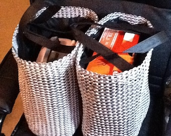 Two Giant Pull Tab Shopping Bags