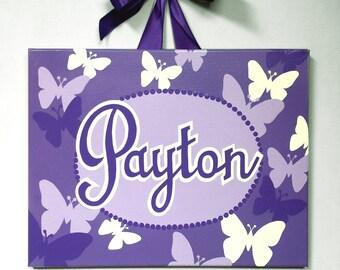Canvas Name  Butterflies- Custom