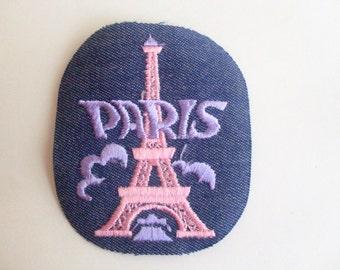 Paris France Eiffel Tower Authentic Collectible Vintage 1970s Sewing Patch Applique Retro