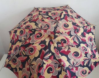 Vintage Sun Parasol Cloth Umbrella