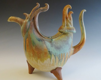 Sculptural Fantastical Creature Teapot
