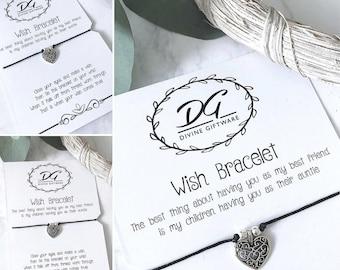 Best Friends/Auntie Children Wish Bracelet Gift Jewellery