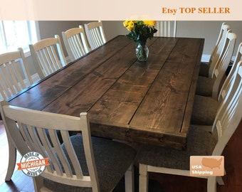 Farm Table, Farmhouse Table, Trestle Table, Dine Room Table, Dine Table,