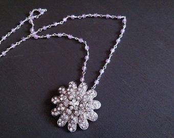 Crystal Flower Necklace