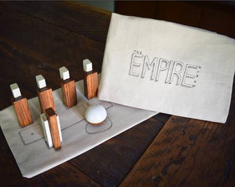 Albany Empire State Plaza Mini Bowling Set • NY Souvenir • New York Tabletop Bowling Game • Unique Interactive Decor • Capital District
