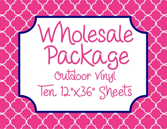 """Wholesale Package for Ten 12""""x36"""" Outdoor Vinyl Sheets // Beautiful, Vibrant Patterns"""
