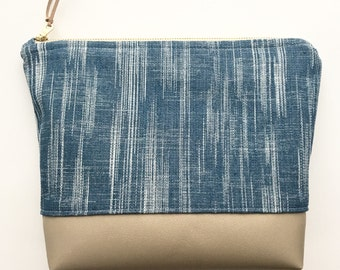 Essential Oil Bag / Essential Oil Storage / Essential Oil Clutch / The LUXE edition / Denim Oil Bag