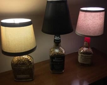 Bourbon Liquor Lamps  Custom, Handmade And Designed For You