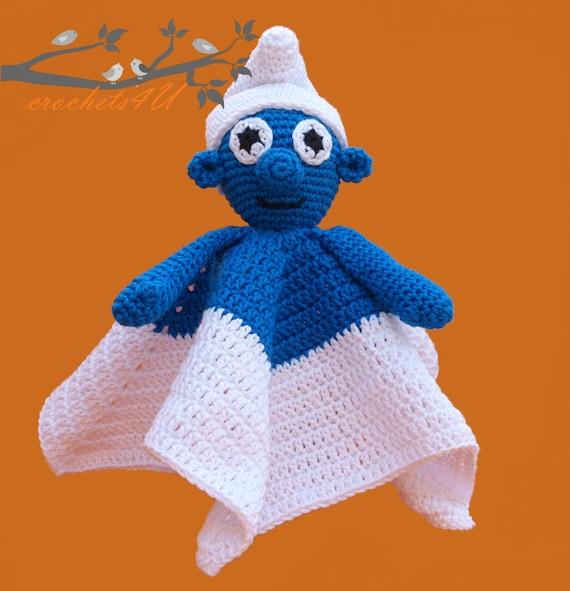 crochet pattern lovey smurf, security blanket, crochet pattern from ...