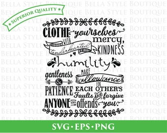 Christian Scripture Colossians 3 Chalkboard svg png eps cut file