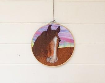 Heavy horse wall art