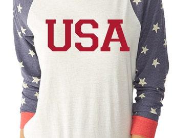 USA Stars and Stripes Patriotic Shirt  Fourth of July T Merica Shirt