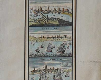 City - England /Cities - Cm. 30 x 80 Inches 11,8 x 31,4 - Printed on high quality paper and water-coloured by hand. Since 1930s