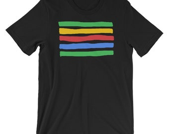 Colored Painted Lines T-Shirt