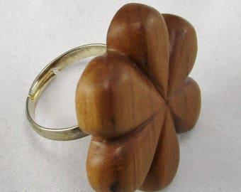 Welsh Wild Plum Tree Wood Ring