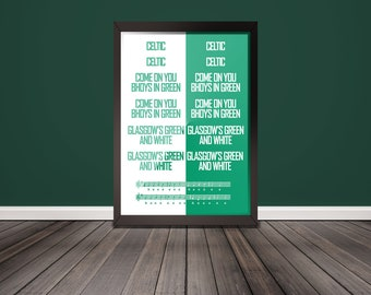 COYBIG - Come on You Bhoys in Green Poster
