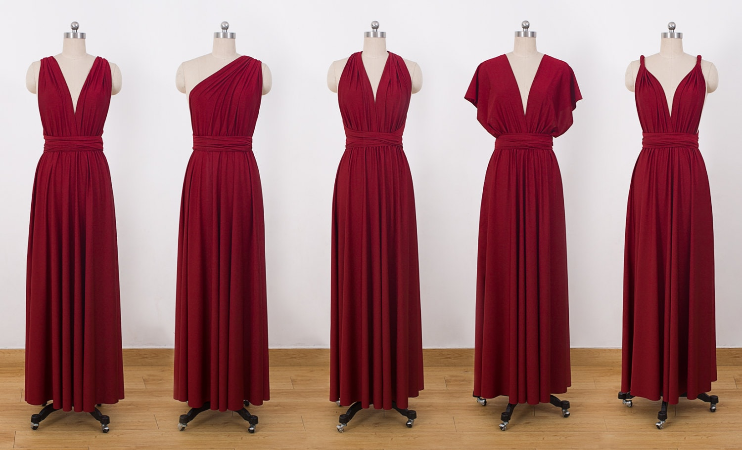 Burgundy maxi infinity dress convertible bridesmaid dress zoom ombrellifo Gallery
