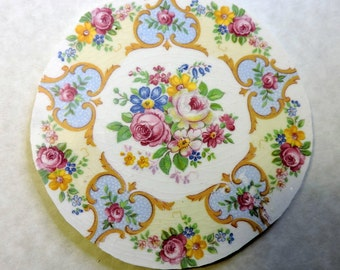 China Mosaic Tiles - Shabby Chic Roses PLaTE CeNTeR - LG. Mosaic Tiles Focal