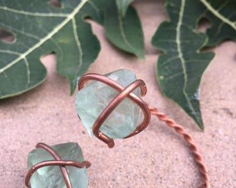 Simple and beautiful Fluorite and copper bracelet.