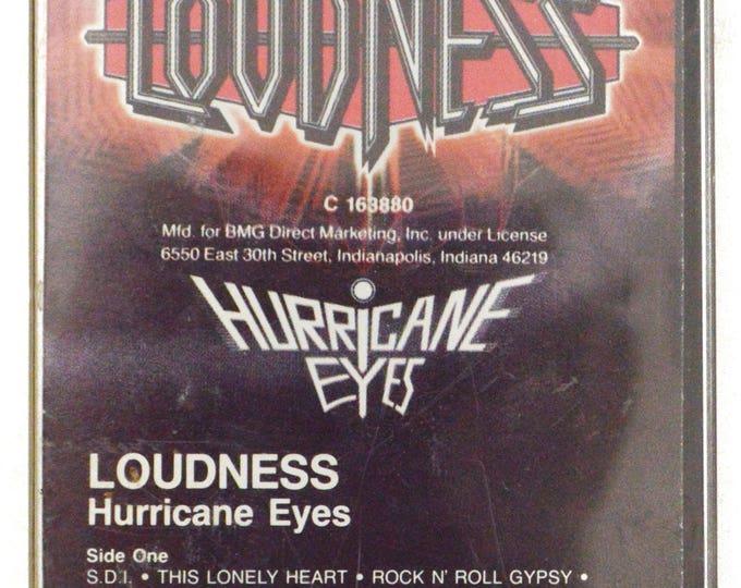 Vintage 80s Loudness Hurricane Eyes Heavy Metal Record Club Album Cassette Tape