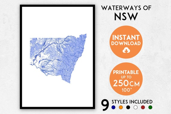 nsw map print nsw print australia map australia print nsw