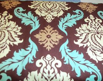Aviary 2 by Joel Dewberry Damask in Bark fabric by Free Spirit Fabrics - 1 yard