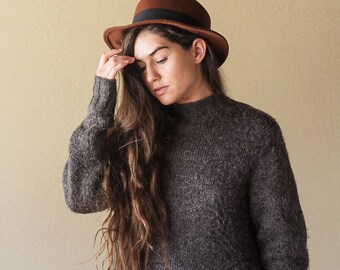 Burgundy Wool Fedora | Mens Vintage Fedora