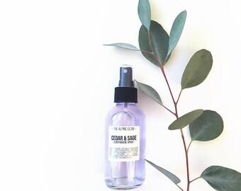 CEDAR + SAGE SPRAY - Room Spray - Linen Refresher - Body Spray - Purifying Energy - Deodorizing Mist - Housewarming Gift