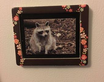 Raccoon Fridge Magnet Raccoon Magnet Raccoon Print Magnet Refrigerator Magnet Kitchen Magnet Art Magnet Framed Magnet Raccoon Lover Gift