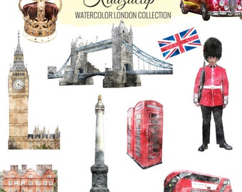 Watercolor London Collection - Commercial and Personal Use