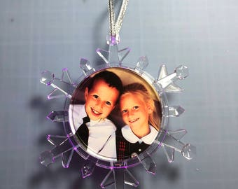 LED Light Up Photo Snowflake Ornament