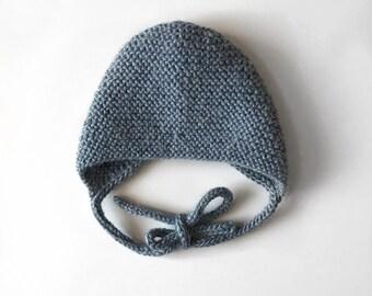 Presley Knit Bonnet, Knit Baby Bonnet, Newborn Bonnet, Vintage Baby Bonnet, Gender Neutral Bonnet, Newborn Photo Prop, Baby Shower Gift