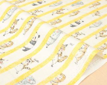 Japanese Fabric Kokka Hide and Seek - yellow - fat quarter
