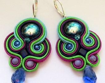 Soutache Earrings Color