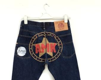 Vintage mens jeans / Mens jeans / Mens denim pants / mens tapered jeans / Mens ANDREW MACKENZIE jeans size 48 / Mens Tapered DESIGNER  jeans