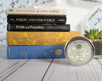 Elizabeth & Darcy | 4 oz Candle | Jane Austen | Pride and Prejudice | Bookish | Floating Starlights