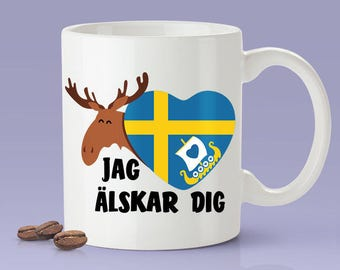Swedish Lover Mug [Gift Idea For Him or Her - Makes A Fun Present] I Love You - Sweden