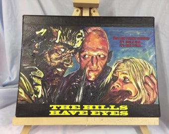"""Wes Craven's  The Hills Have Eyes   Hand Painted    Acrylic on Canvas    12"""" x 16"""""""