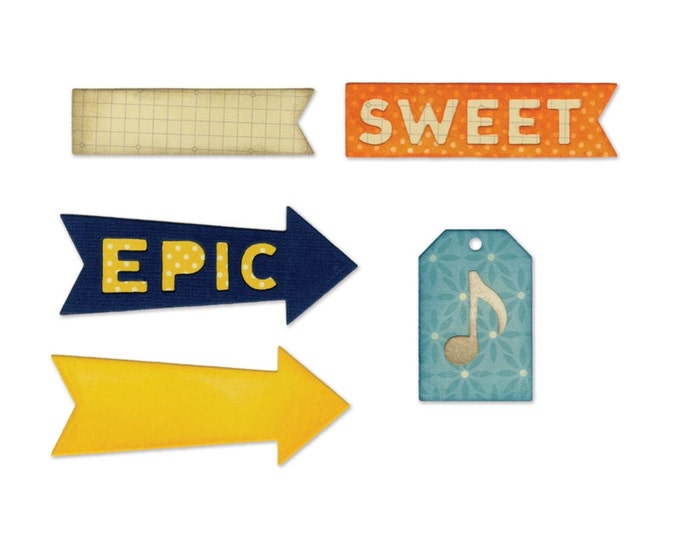 Sizzix Thinlits Die Set 6PK - Epic & Sweet by Jillibean Soup 660414