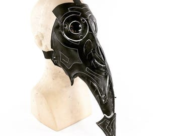 The Plague Doctor Handmade Genuine Leather Mask  for Masquerades Cosplay or Halloween Costumes
