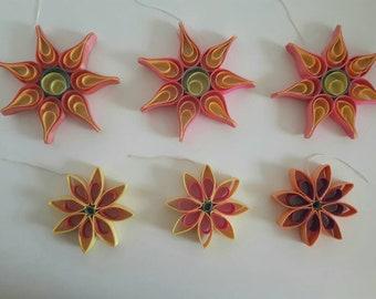 Traditional Polish Folk Art Ornaments Stars