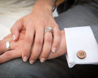 monogram cufflinks gift for him anniversary gift custom cuff links groom cufflinks wedding cufflinks wedding anniversary shabby chic rustic