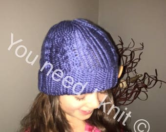 Handknit hats/ needle knitted hat/ cableknit hat/ beanie hat/ brim hat/ pompom beanie/